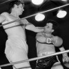 """April 9th, 1979 -- """"So You Wanna Fight"""" competition at the PNE Gardens. Louis Richards (right) during his first bout of the night."""