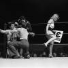"""April 9th, 1979 -- """"So You Wanna Fight"""" competition at the PNE Gardens. Louis Richards in his corner before round three of his first bout of the night."""