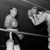 Louis Richards, left, during his second bout of the night.