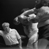 """April 9th, 1979 -- """"So You Wanna Fight"""" competition at the PNE Gardens. Referee Dave Brown on the left"""