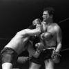 """April 9th, 1979 -- """"So You Wanna Fight"""" competition at the PNE Gardens.  Louis Richards (right) during his final bout of the night. Left is Louie Torrao."""