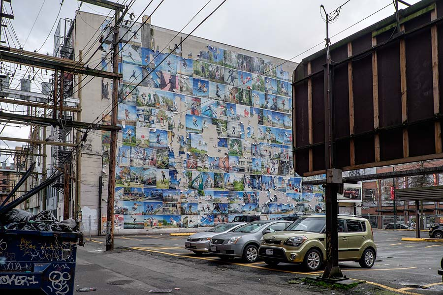 Jump pictures mural